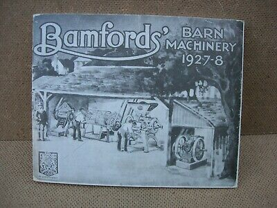 Reproduction Bamford`s Barn Machinery 1927-8 Stationary Engine Brochure 60pages
