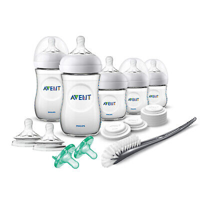 Philips Avent Natural Baby Bottle Newborn Starter Gift Set, SCD206/03 BPA Free