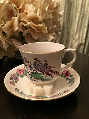 vintage Tea cup and Saucer set- Cathay design Staffordshire fine bone china