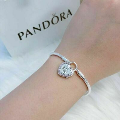 Sterling Silver S 925 PANDORA Authentic Charm bracelets Rose Gold + Gift pouch