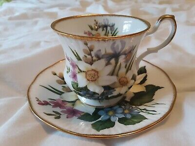 Rosina China Co. Ltd. Queens Bone China Teacup & Saucer Floral Pattern