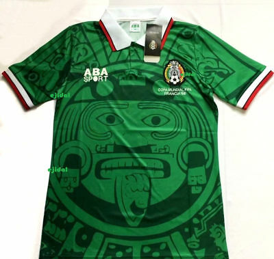 968c65fa9 New ABA SPORT Mexico 1998 Jersey XL RETRO France NO NAME shirt Home TRUE  SIZE XL