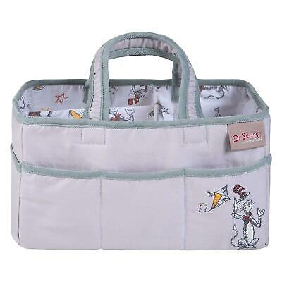 NIP Dr. Seuss Classic Nursery Cat In The Hat Storage Caddy Gray by Trend Lab NEW