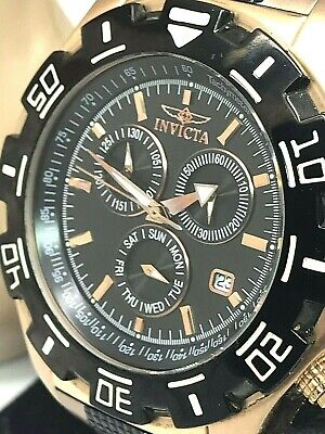Invicta Specialty Chronograph Date Dial Rose Gold Tone SS Men's Watch 1221 READ