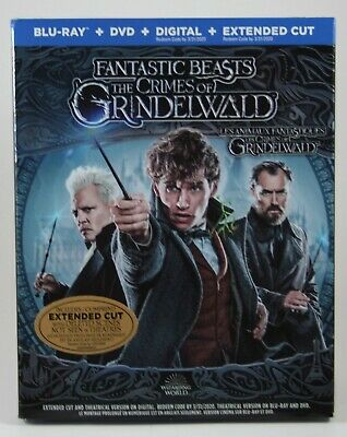 Fantastic Beasts The Crimes of Grindelwald Blu-Ray + DVD + Digital BRAND NEW