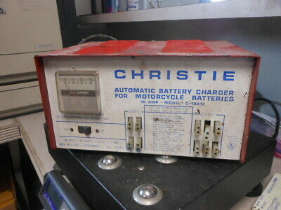 Christie 10 Amp 6V 12V Automatic Charger Motorcycle Batteries C-10612