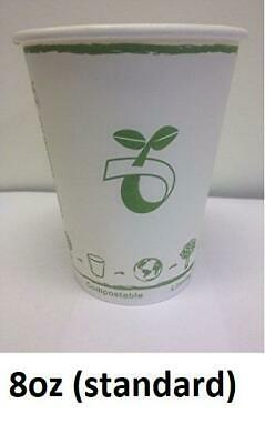 8oz Biodegradable Paper Cup (1000 Cups)