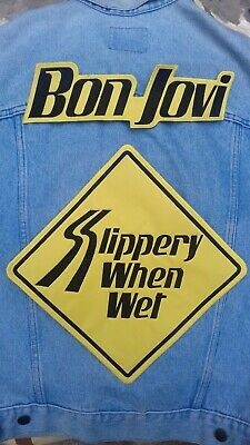 Bon Jovi Slippery When Wet embroidered back patch glam metal poison motley crue