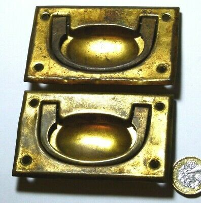 Pair X Reproduction Antique Brass Campaign Ship Chest/Drawer/Door Handle Recycle