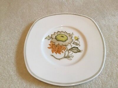 Susie Cooper Sunflower 9 inch Square Plate Cake Plate C2002