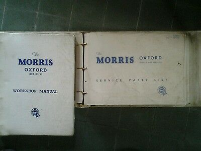 MORRIS OXFORD VI     Workshop manual