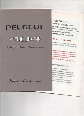 Peugeot  404  injection  notice