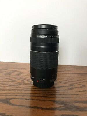 Canon Mount ZOOM Telephoto AF 58mm Lens EF 75-300mm 1:4-5.6 III EXCELLENT! Used!