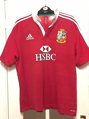 Great Condition Mens Adidas Lions Rugby Shirt Australia 2013 2XL