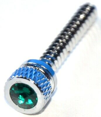 dash screws(2) long green jewel chrome knurled head for Freightliner dash