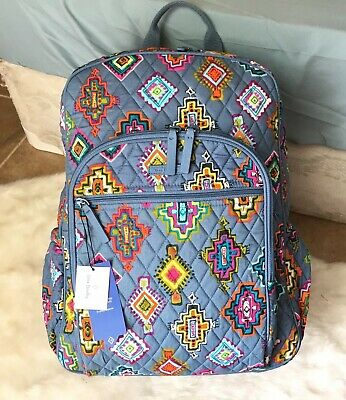 NWT VERA BRADLEY Campus Tech Backpack Painted Medallions MRSP  115 25ddd28064122