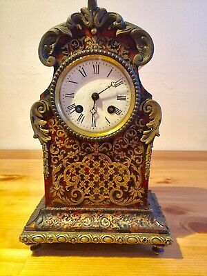 Antique French Boulle Clock By Vincenti. 8 Days Silk Suspension. C1840