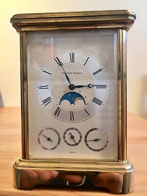 Vintage Matthew Norman Multi Dial Repeiter Alarm Date & Calendar Carriage Clock
