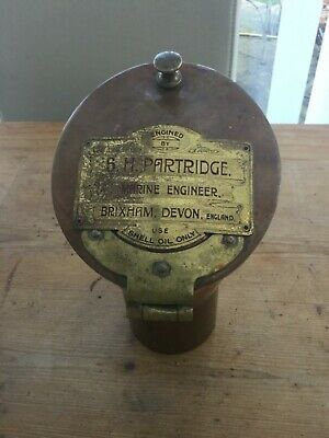 Vintage Brass & Copper Ships Voice Pipe Maritime Marine Brixham engineer plaque