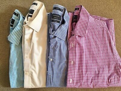 4 x Mens Long Sleeve Business Shirts Van Heusen Size 42 (L) Great Condition