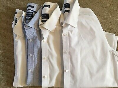4 X Mens Business Shirts Van Heusen Size 41/42 (L) Great Condition