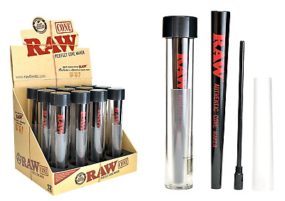 RAW Perfect Cone Maker - 1 Roller - Rolling Papers RAWLIFE Authentic Black Fast