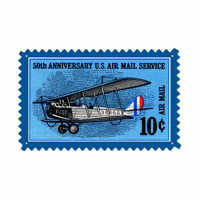 VINTAGE STYLE METAL SIGN Aviation 50Th Anniversary  24 x 15