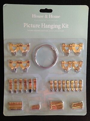 Picture Hanging Kit, Photos, Pictures, Mirrors, Hooks Wire Nails ** FREE P&P **