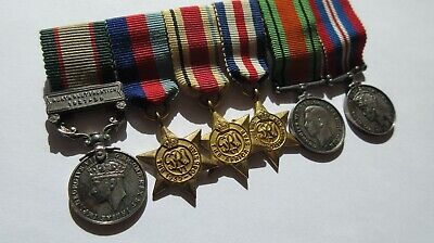 Miniature Medal Group mounted as worn IGS 1937 39  Group of six CONTEMPORARY RAF