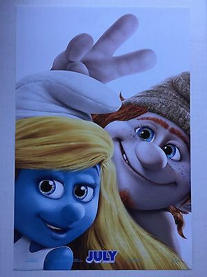 "THE SMURFS 2 ""D"" 11.5x17 PROMO D/S MOVIE POSTER"