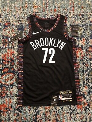 6cab551e5 Nike Brooklyn Nets City Edition Jersey Biggie Smalls Size Medium 100%  Authentic