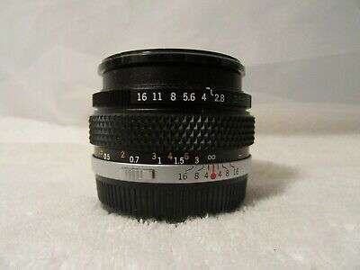 Olympus G. Zuiko Auto-W 35mm F2.8 Wide Angle Lens Manual Focus MINT NO RESERVE