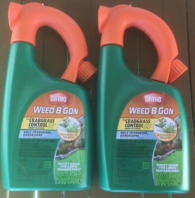 Lot Of 2 Weed-B-Gon  Plus Crabgrass Killer -  Company-Tomcat,