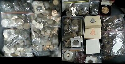 American Coin lot Dollar, Half, Quarters, Dime, Great Silver Coins Bundle
