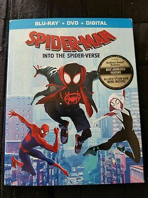 New Spider-Man Into The Spider-Verse Blu Ray & DVD 2019 Marvel Spiderman Carto