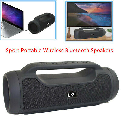 LZ E8 Black Sport Portable Wireless Bluetooth Speakers 4.2 for Many smart phones