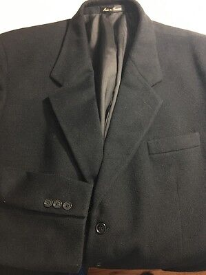 Zeidler And Zeidler Black 42 long jacket, cashmere blend