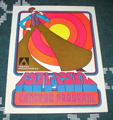 Triangle Productions 1971-1972 Concert Program Chicago Mod Graphics Advertising