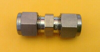 """Swagelok 3/8"""" x 3/8"""" Tube Coupling SS-600-6 Compression Union Stainless Steel"""
