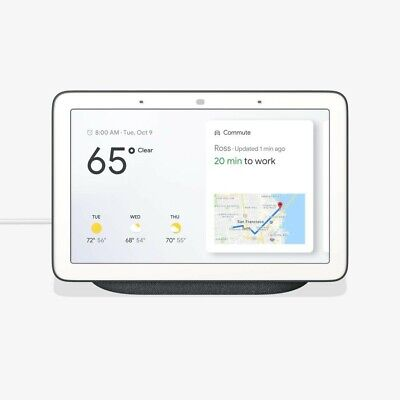 NEW GOOGLE HOME HUB with Google Assistant - Chalk GA00516-US IN UNOPENED In BOX