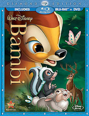 Bambi (Blu-ray/DVD,ONLY 2011, 2-Disc Set, Diamond Edition)new fast shipping