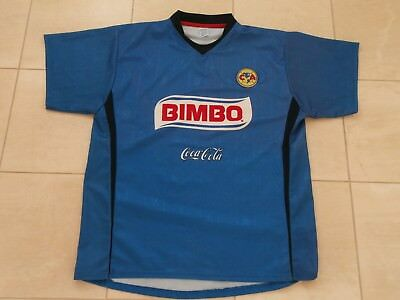 75bf57aee08 Club America Mexican Football Blue Soccer Jersey Replica By Remini Men Xl
