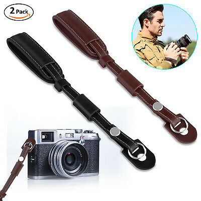 Camera Strap PU Leather Hand Wrist Strap Grip For Finepix Sony Canon Nikon Leica