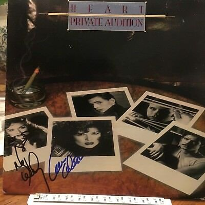 Heart Lp Private Audition Autographed By Ann & Nancy Wilson