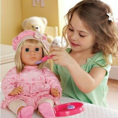 "NEW: 18"" Interactive Toddler Doll and accessories"