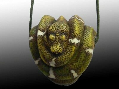Harmony Kingdom Emerald Tree Boa Snake Heart Shaped Base Pendant LE 50 RARE