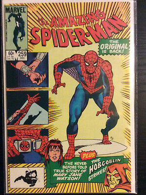 Amazing Spiderman #259 Very Fine to Near Mint (White Pages)