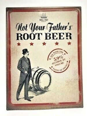 """Not Your Father's Root Beer Tin Metal Sign Embossed New & Free Ship - 24"""" x 18"""""""