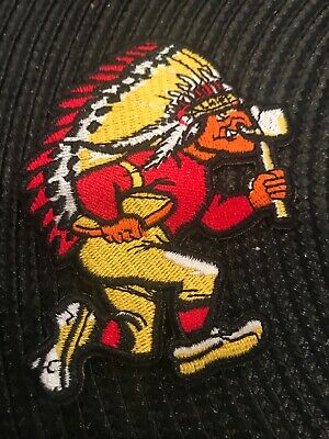 """Kansas City Chiefs vintage embroidered iron on logo patch 3.5"""" x 2.5""""  NFL"""