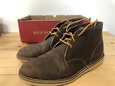 9e3dbc215508d RED WING HERITAGE Men's Weekender Chukka Concrete 03324 Rough And Tough  Size 8
